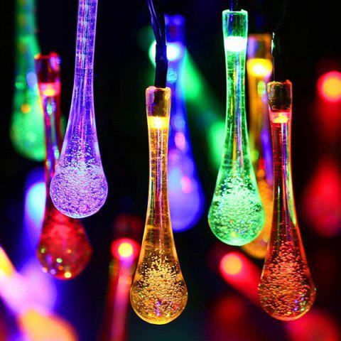 Latest Christmas Supplies 4.8M Solar Power Waterdrop LED String Light Decoration - COLORFUL  Mobile