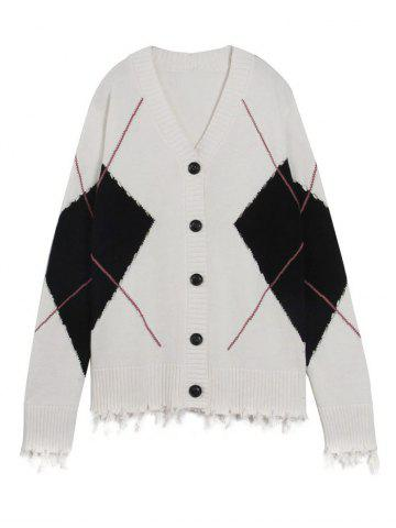 Unique Single Breasted Tassels Embellished Longline Cardigan