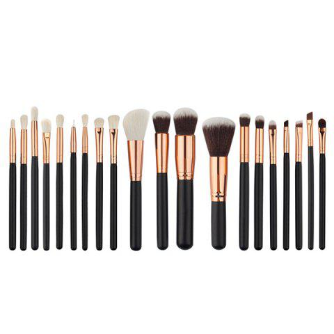 Hot 20 Pcs Fiber Face Makeup Brushes Set BLACK