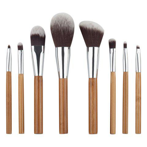 Fashion 8 Pcs Fiber Facial Makeup Brushes Set