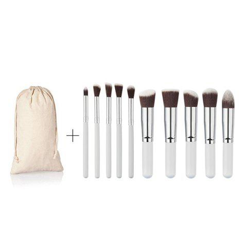 Outfit 10 Pcs Fiber Face Eye Makeup Brushes Kit
