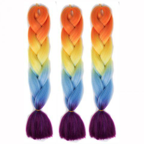Online 1 Pcs Colorful Long High Temperature Fiber Braided Hair Extensions - COLORFUL  Mobile