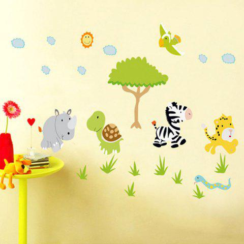 Fashion Cartoon Animals Forest Removeable Wall Sticker