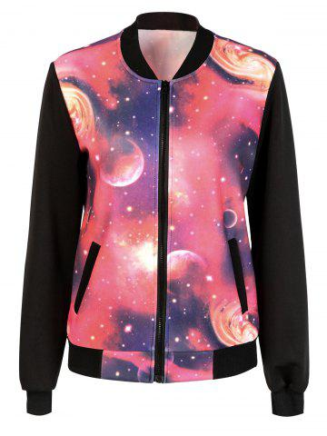 Outfits Galaxy Zip Up Jacket RED 2XL