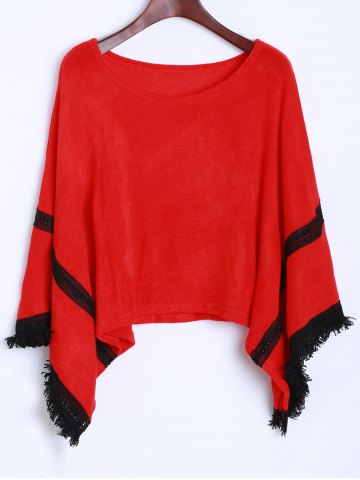 Chic Tassel Knitted Dolman Sweater