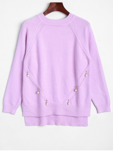 Store Faux Pearl Detailed Pullover Sweater