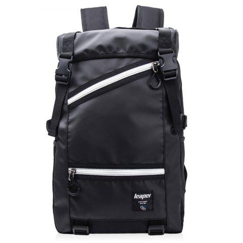 Outfits Mesh Spliced Straps Backpack - BLACK  Mobile