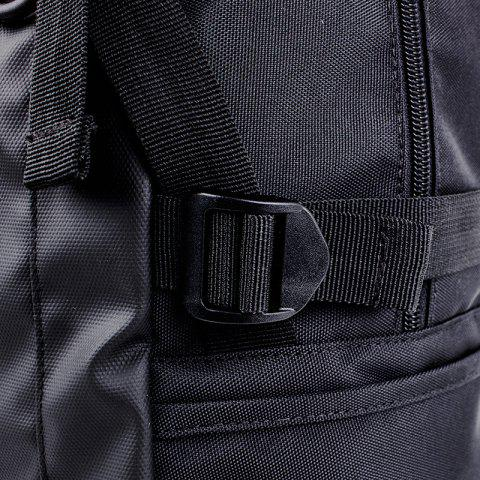 Latest Mesh Spliced Straps Backpack - BLACK  Mobile