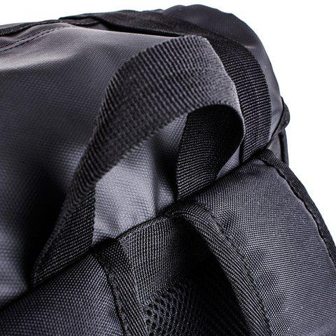 Unique Mesh Spliced Straps Backpack - BLACK  Mobile