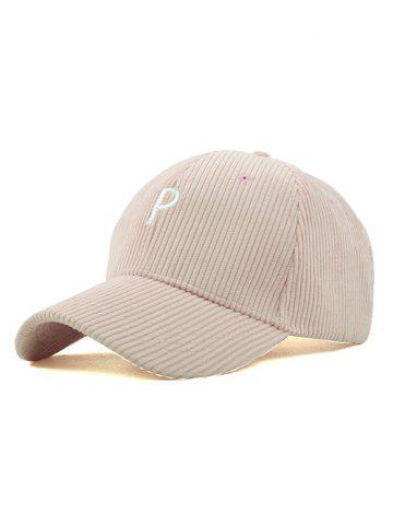 Shop Chic Corduroy P Embroidered Cap