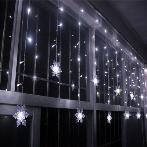 Hot Christmas Indoor Decor Snowflake Pendant LED String Light WHITE