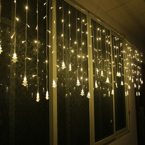 Store Christmas Tree Pendant LED String Light Indoor Decoration Supplies - WARM WHITE LIGHT  Mobile