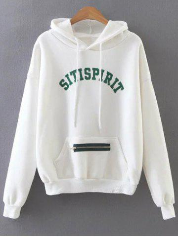 Outfits Sitispirit Letter Hoodie