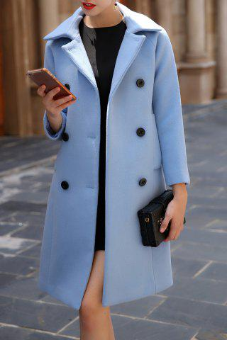 Unique Walker Wool Coat ICE BLUE S