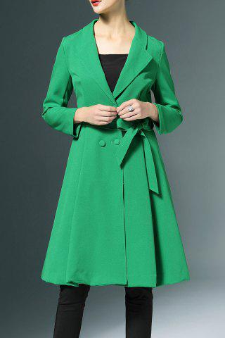 Fashion Bowknot Double-Breasted Trench Coat