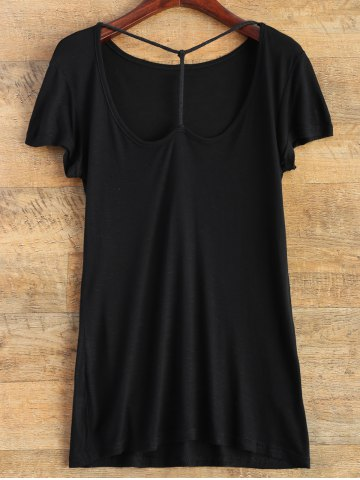 Discount Short Sleeve Basic Tee BLACK 2XL