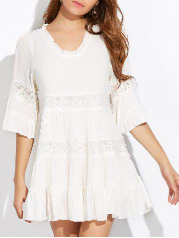 Outfits Lace Trim Tiered Tunic Dress