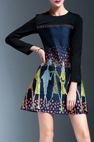 Best Embroidered Panel A Line Dress