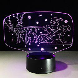 Colorful 3D Illusion LED Kids Room Christmas Night Light -