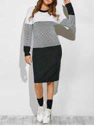 Contrast Trim Knit Dress