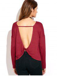 Twisted Open Back T-Shirt -