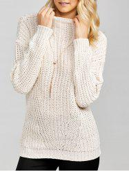 Mock Neck Chunky Sweater -