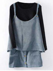 Corduroy Tank Top and Button Up Skirt -