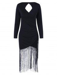Fringe Cut Out Bodycon Flapper Dress