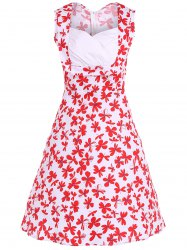 Patterned Midi Vintage Dress