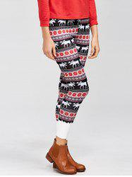 Fawn Color Block Christmas Leggings