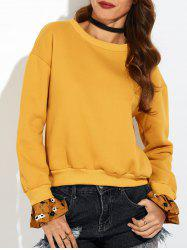 Bell Sleeve Pullover Orange Sweatshirt -