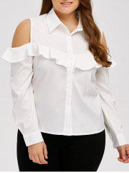 Ruffle Cold Shoulder Shirt