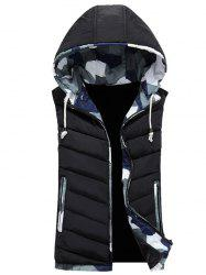 Camouflage Trim Hooded Vest -