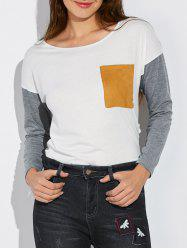 Pocket Drop Shoulder Tee -