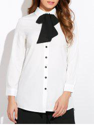 Pussy Bow Neck Shirt -