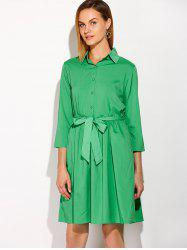 Belted Casual Dress -