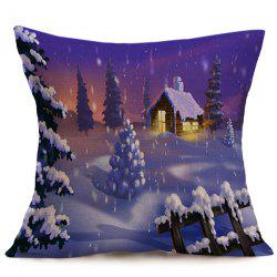 Winter Snowing Christmas Cushion Pillow Case -