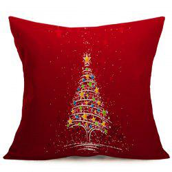 Christmas Tree Star Sofa Cushion Throw Pillow Case -