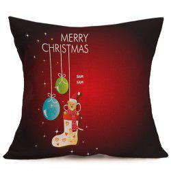 Home Decorative  Christmas Cushion Pillow Cover - DEEP RED