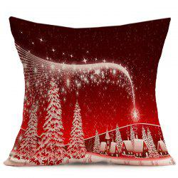 Home Decorative Merry Christmas Throw Pillow Cover - RED