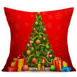 Home Decorative Christmas Tree Pattern Throw Pillow Cover - RED