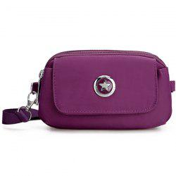 Metal Double Zipper Nylon Clutch Bag -
