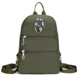 Zip Nylon Metal Backpack