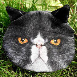 Zip 3D Cat Pattern Colour Block Coin Purse