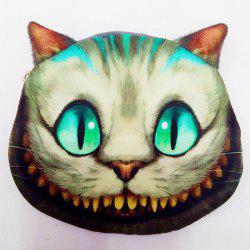 Zip 3D Cat Pattern Colour Block Coin Purse - BEIGE