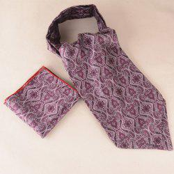 Vintage Jacquard Square Pocket Hanky and Cravat