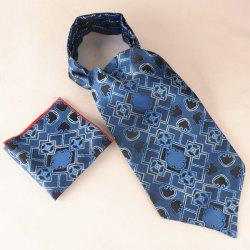 Geometry Jacquard Pocket Square Cravat Tie Set