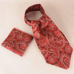 Paisley Floral Pocket Square Cravat Tie Set