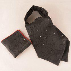 Floral Paisley Polka Dot Pocket Square and Cravat