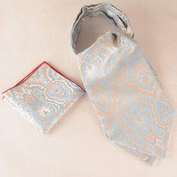 Jacquard Pocket Square and Ascot Cravat Set